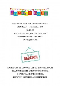 Jumble Sale 14th March