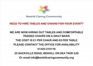 Tables and Chair hire